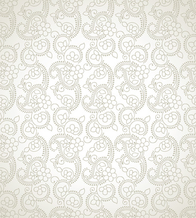 mustered: Traditional seamless floral wallpaper