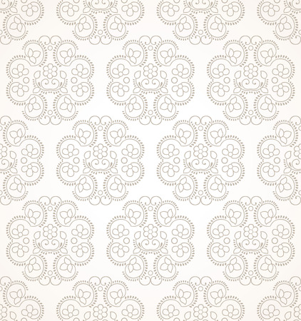 mustered: Seamless luxurious floral wallpaper
