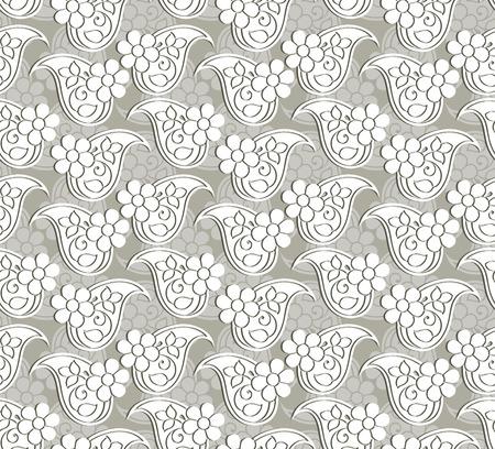 mustered: Paisley seamless pattern