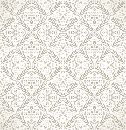 mustered: Damask floral seamless wallpaper