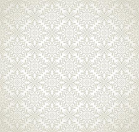 mustered: Damask seamless traditional pattern Illustration