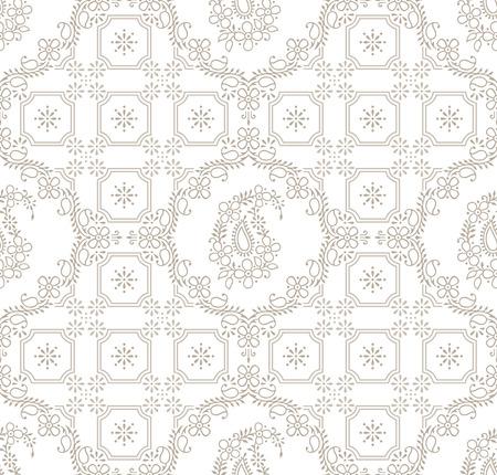 mustered: Paisley royal seamless wallpaper