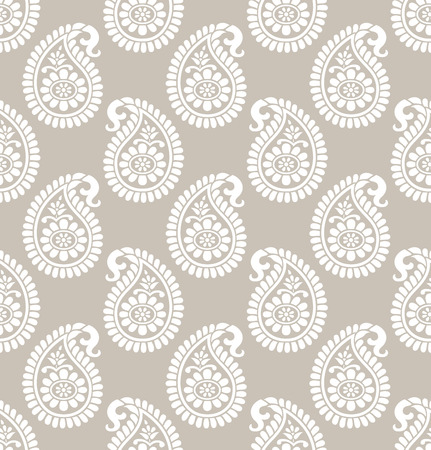 Paisley seamless designer wallpaper Vector