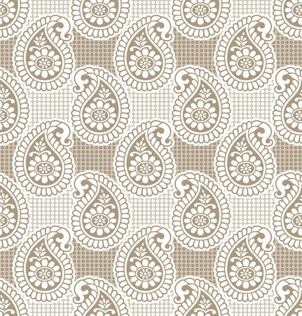 Paisley seamless luxurious wallpaper Vector