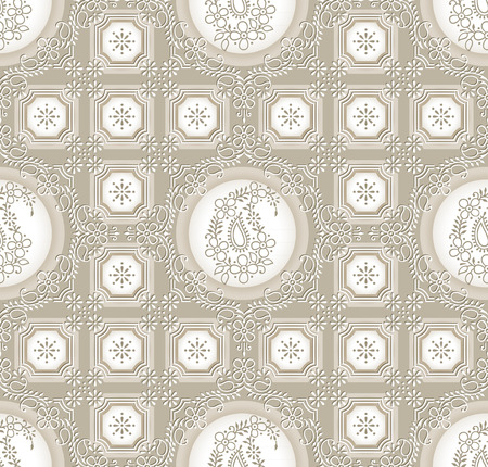 Paisley seamless rich background Vector