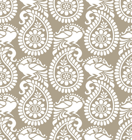 mustered: Traditional paisley seamless pattern