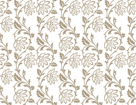 mustered: Seamless floral wallpaper real