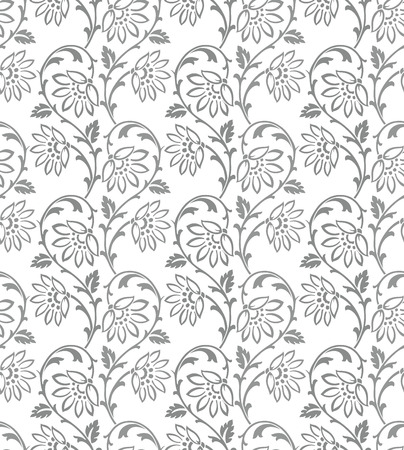rich black wallpaper: Floral damask seamless wallpaper