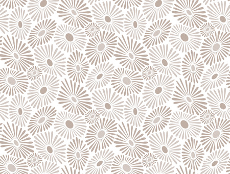 mustered: Seamless floral golden background