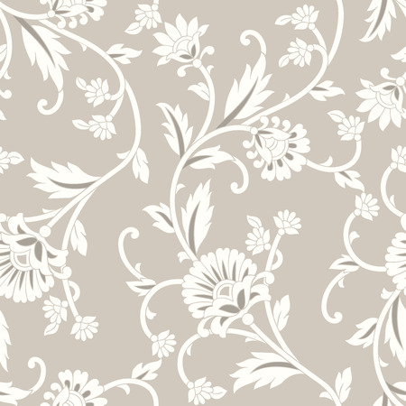 Seamless vector floral wallpaper Illustration