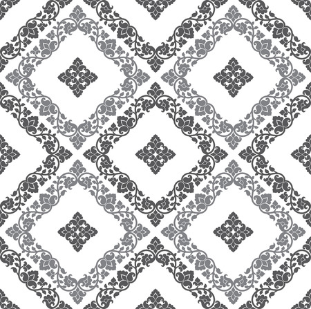 mustered: Paisley seamless silver background Illustration