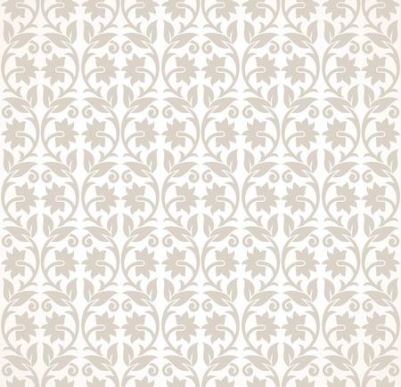 mustered: Designer seamless floral wallpaper