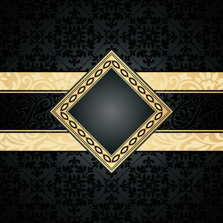 rich black wallpaper: Royal seamless wallpaper and banner Illustration