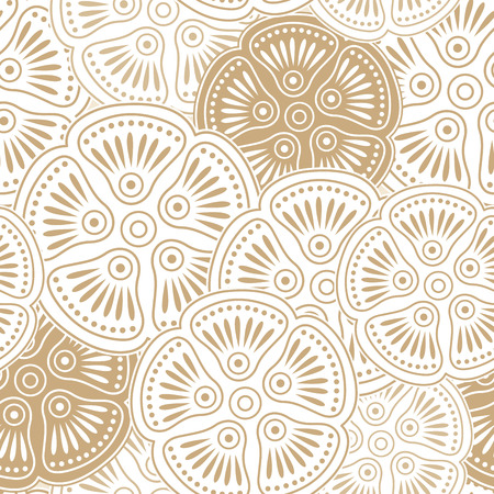 Fancy seamless floral wallpaper Vector