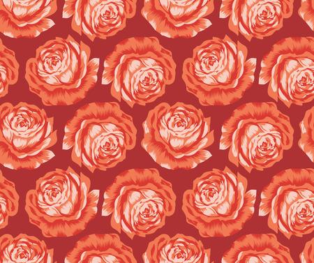 design vector: Seamless vector rose flower