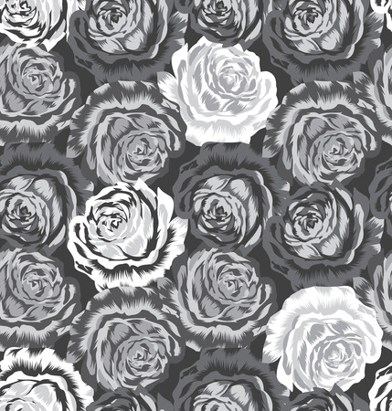 vector fabric: Seamless rose flower pattern Illustration