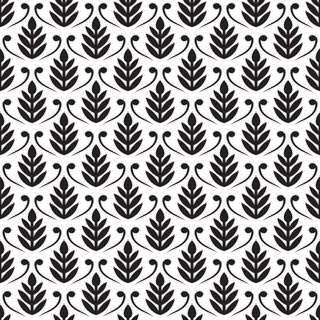 traditional silver wallpaper: Seamless pattern for ornaments on white background