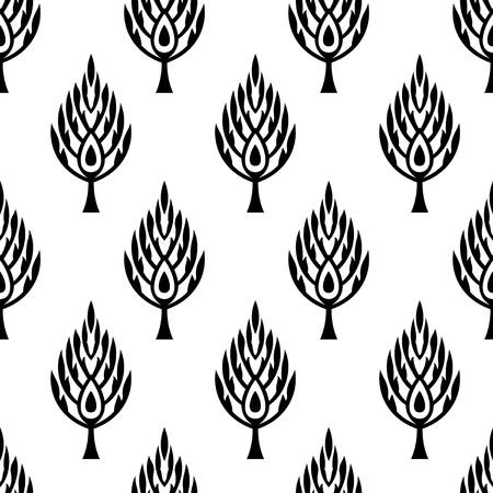 leaf pattern: Seamless leaf pattern