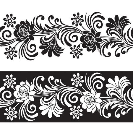 motif floral: Sans soudure frontière floral