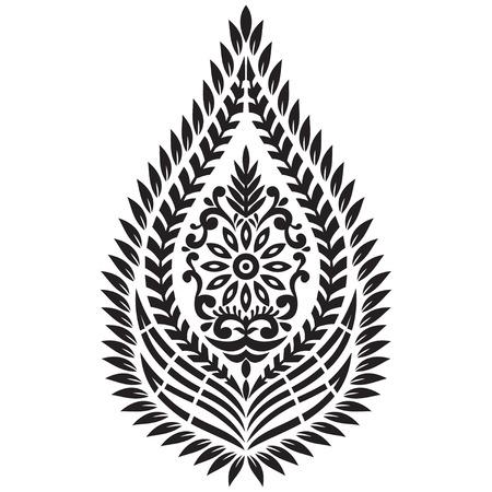Textile Motif on white background