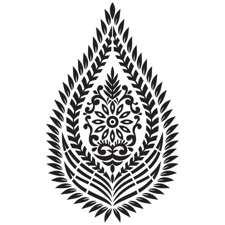 motives: Textile Motif on white background