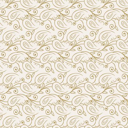 mustered: Seamless paisley pattern Illustration