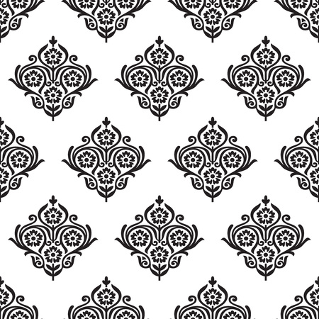 seamless damask: Seamless damask floral pattern
