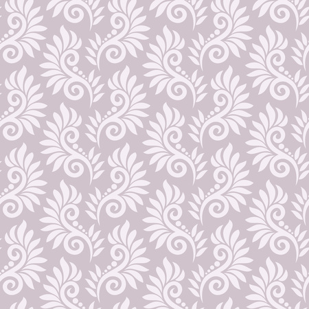 mustered: Seamless fancy floral pattern