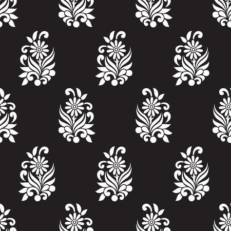 textil: Patrón floral transparente para el diseño textil