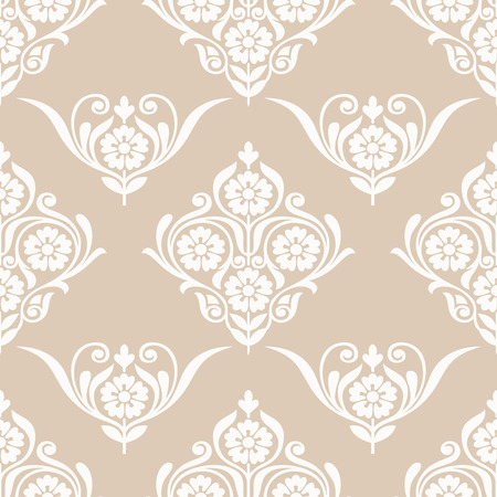 Seamless golden flower wallpaper design