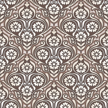 mustered: Seamless golden flower wallpaper design