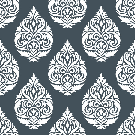 rich black wallpaper: Damask seamless silver wallpaper design
