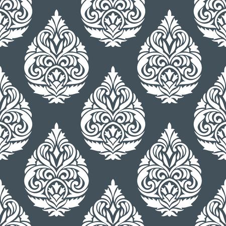 Damask seamless silver wallpaper design
