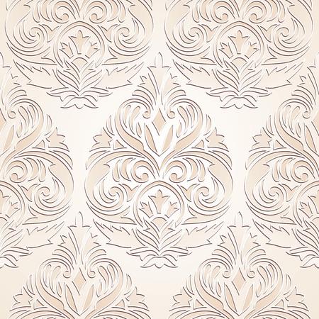 mustered: Seamless golden damask wallpaper design