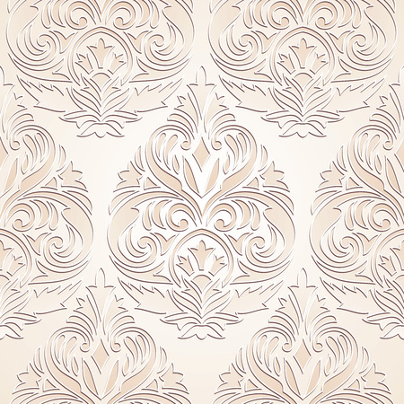 Seamless golden damask wallpaper design