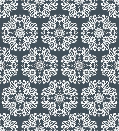 rich wallpaper: Seamless silver damask Pattern design