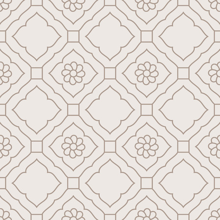 Damask Seamless Golden Floral Pattern Illustration