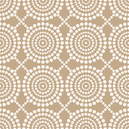 Illustration of a  Seamless golden circle pattern design. Illustration