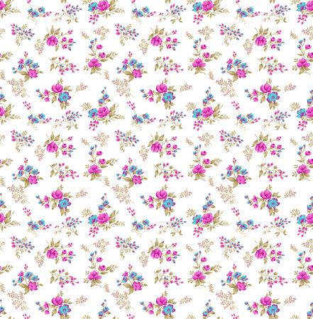 Patrón floral pequeño sin costuras