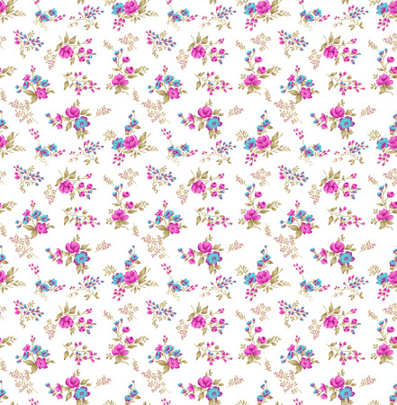 Seamless small floral pattern