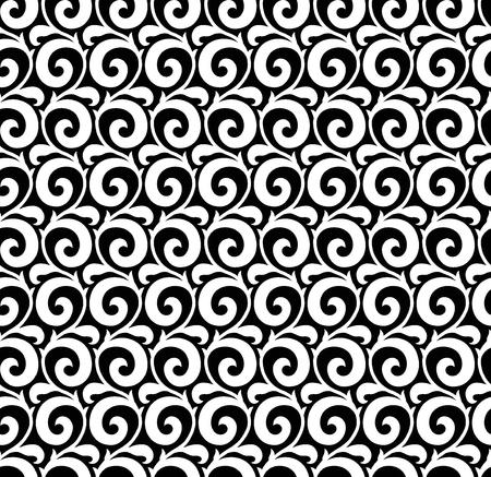 원활한 흑백 골동품 패턴