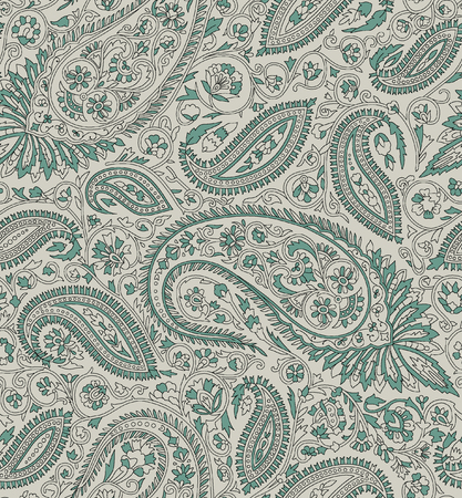 Seamless indian traditional paisley pattern 版權商用圖片