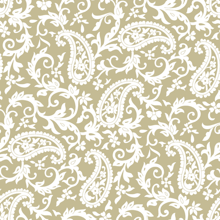 Seamless Traditional Indian Paisley Pattern On Gold Background Stock Photo Jpg 450x450 Beige Wallpaper
