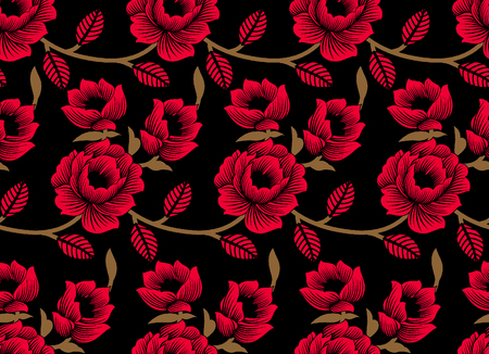 Seamless rose flower pattern Stock Photo