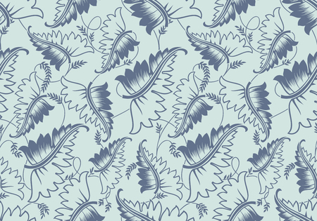 seamless leaves pattern template vector illustration royalty free