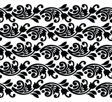 Seamless vector border for lace