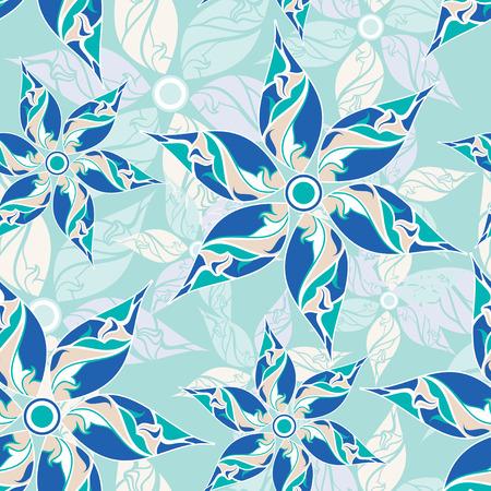 Seamless designer floral pattern Vektorové ilustrace