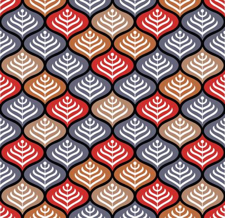 Seamless colorful damask pattern