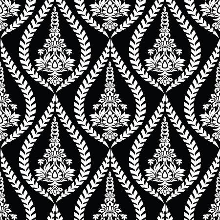 Seamless vector damask pattern Vektoros illusztráció