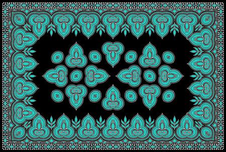 Seamless traditional indian textile fabric motif Reklamní fotografie - 121269733